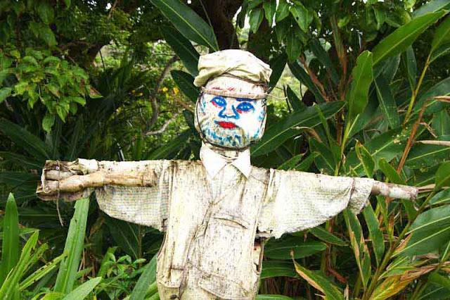 countryside, scarecrow, Okinawa