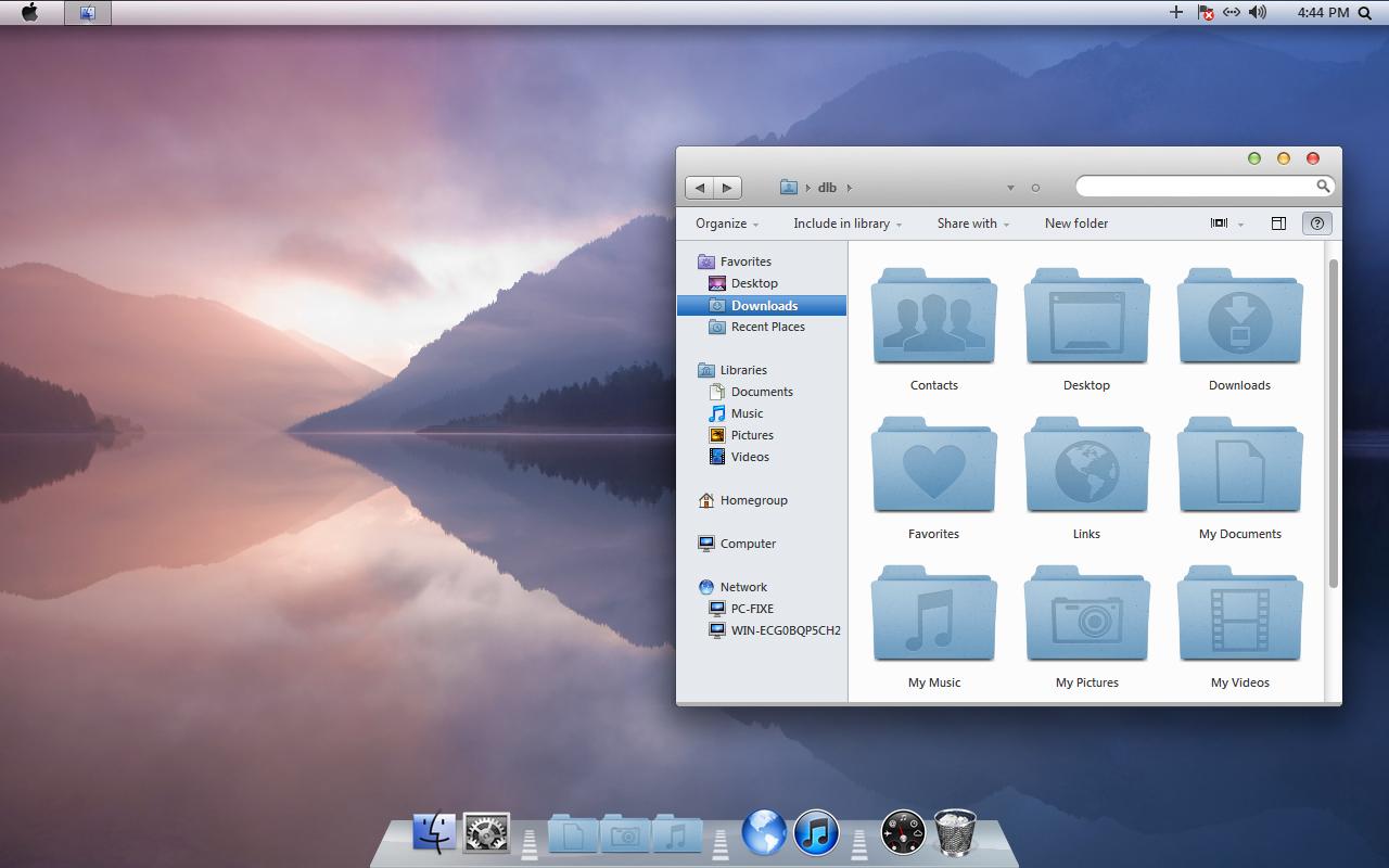 thème mac os x lion inspirat pour windows 7