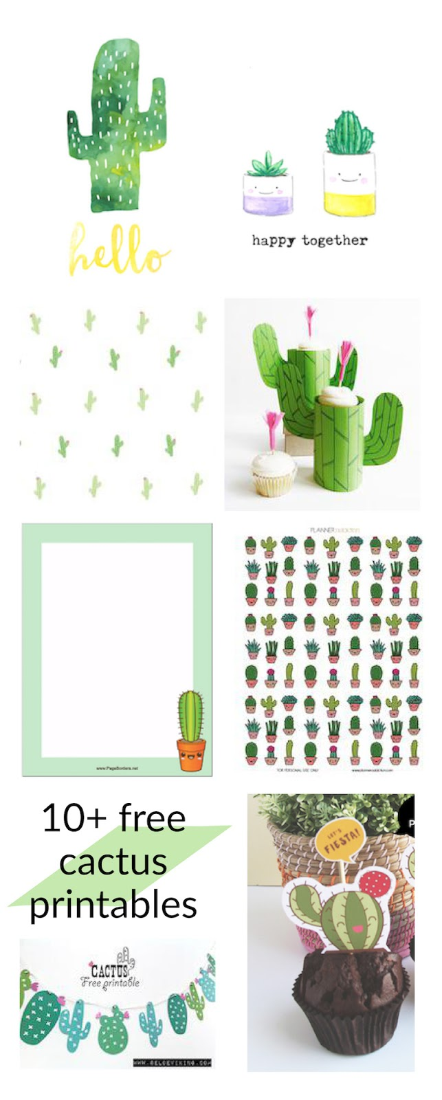 It's just a photo of Rare Free Cactus Printable
