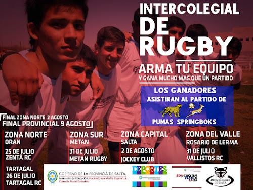 Salta se prepara los Intercolegiales de Rugby 2019