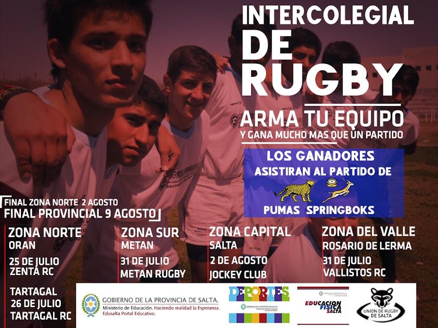 Todo listo para el inicio de los Intercolegiales de Rugby