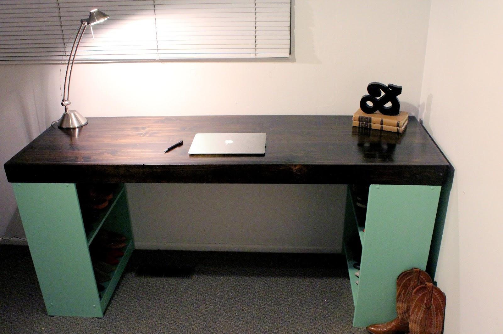 Office Desk Diy: DIY Mint Chocolate Chip Desk Tutorial