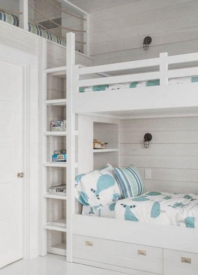 Dormitorios con camas literas para ni os ideas para - Literas para ninos pequenos ...