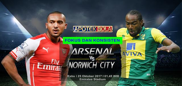 Arsenal vs Norwich City 25 Oktober 2017