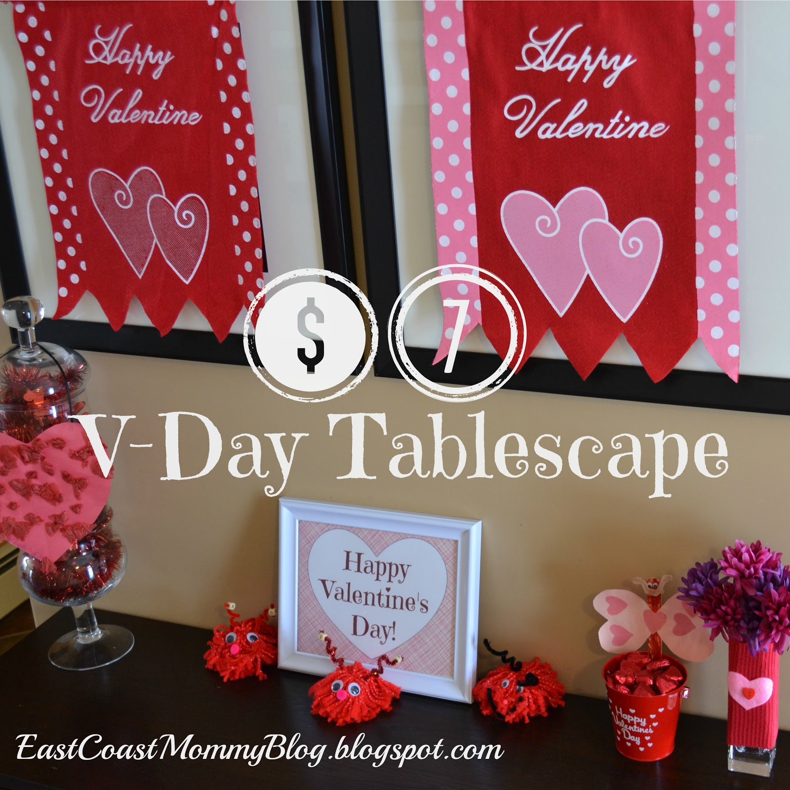 East Coast Mommy: DIY Valentine's Day Decor {With Free ... Free Printable Valentine's Day Decorations