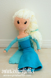 Elsa - The Ice Queen Crochet Doll - AnnaVirginia Fashion