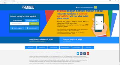 Semakan Akaun ASB Secara Online Melalui Portal MyASNB