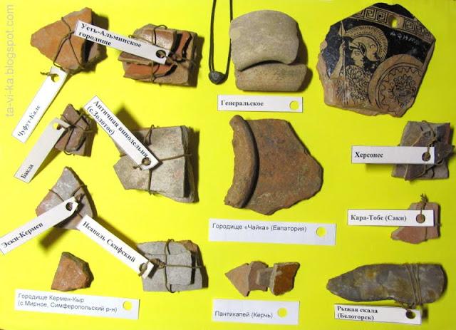 Глиняные черепки из археологических раскопок