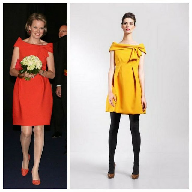 Crown Princess Mathilde of Belgium wore Natan Sleeveless Dress