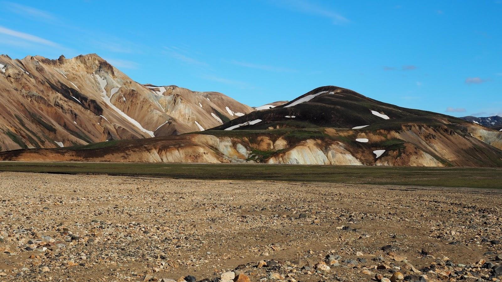 Kolorowe góry w Landmannalaugar