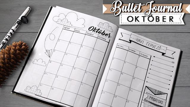 Bullet Journal magyar 2017 Óktóber tervező