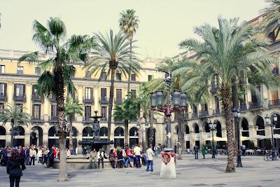 Plaça Reial in Barcelona