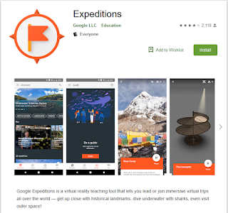 Google expeditions is a teaching tool that combines the art of teaching with the technology of virtual reality. With the help of Google expeditions, students can visit almost any place without even physically leaving their classroom.