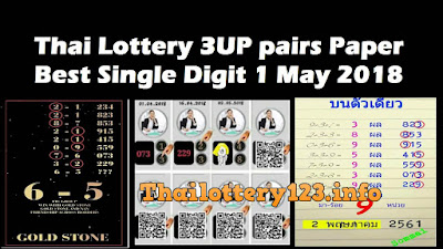 Thai Lottery 3UP pairs Paper