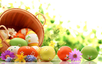 Holidays Easter Basket of eggs on green background for Easter 072821 1%2Bcopy - Happy Easter 2017 Greetings   pictures   images