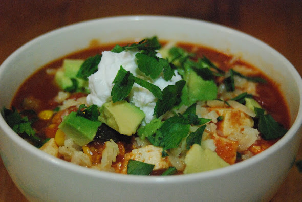 Vegetarian Chili with Tofu