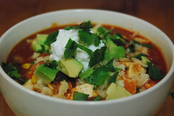Vegetarian Chili with Tofu
