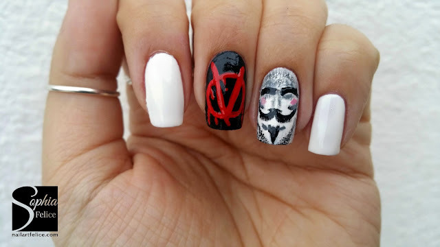 nail art v for vendetta 02