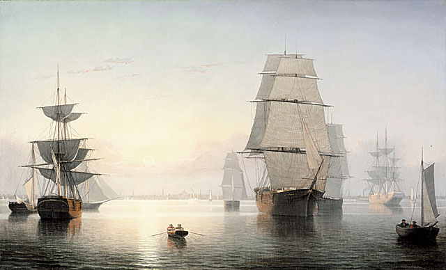 Boston Harbor, Sunset by Fitz Henry Lane, LACMA collection