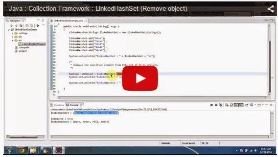JAVA EE: Java : Collection Framework : LinkedHashSet