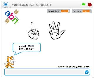 Multiplicar con los dedos.