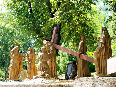 Way of the Cross Station VIII Jesus speaks to the women of Jerusalem who weep