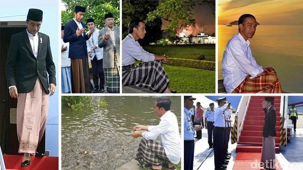 Presiden Jokowi Sarungan
