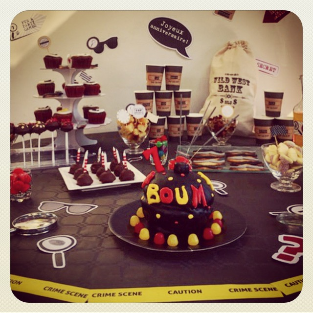 Super Ma poussette à Paris: L'anniversaire agent secret : la sweet table #TI_28