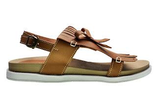 Sandal flip flops cerelia fredella coklat online
