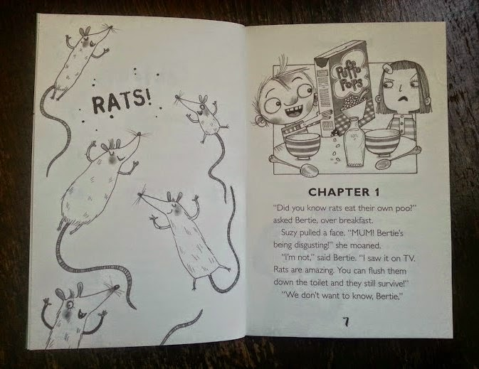 Dirty Bertie: Rats! From the Little Tiger Press example inside page