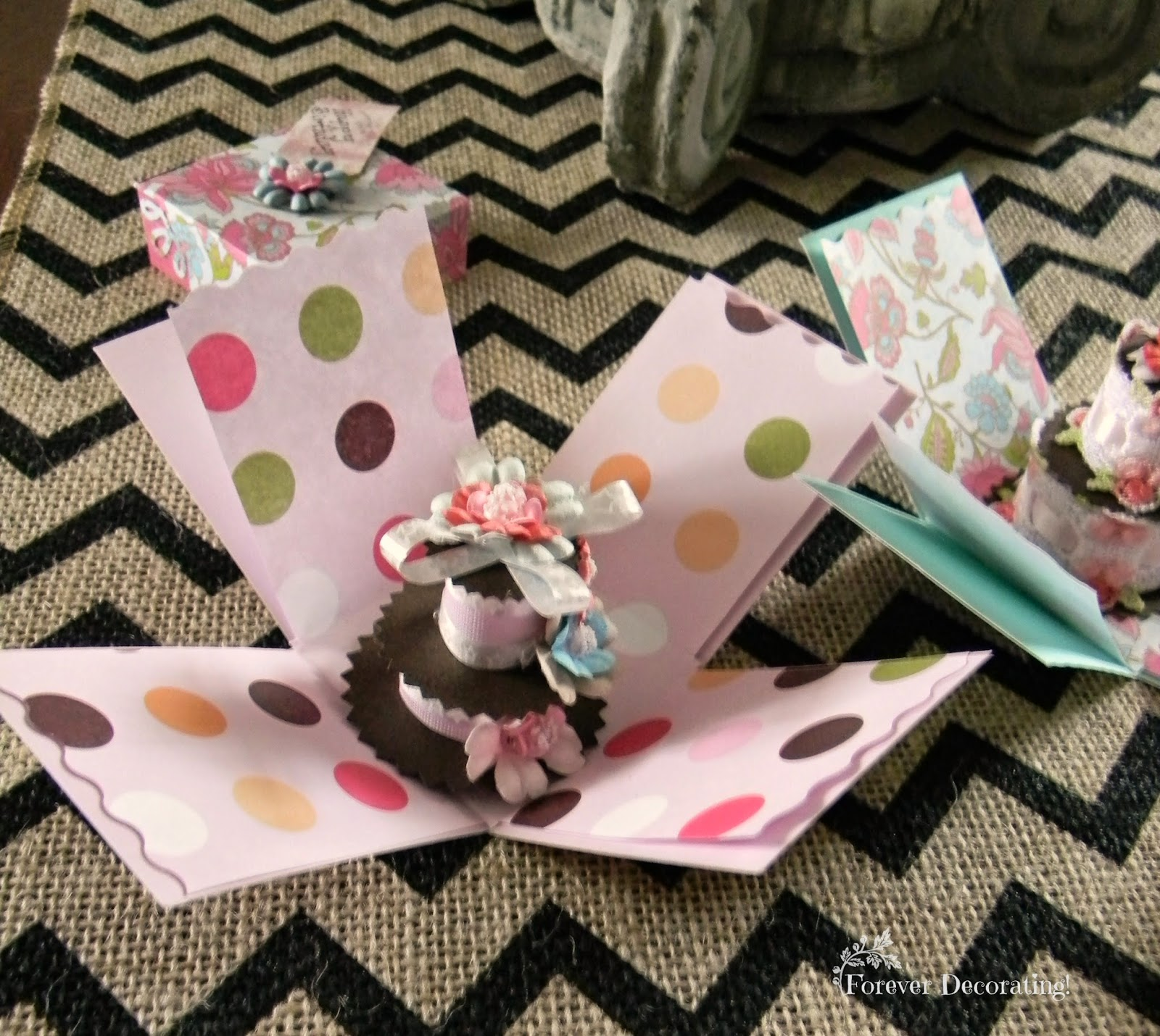 Forever Decorating!: Birthday Surprise Box Cards
