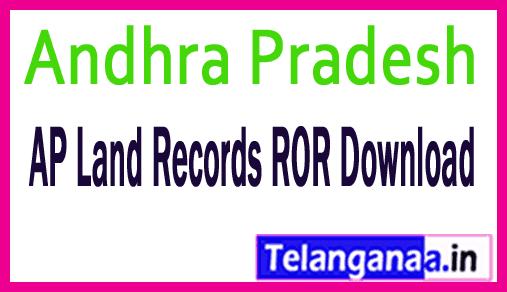 Andhra Pradesh AP Land Records ROR Download at meebhoomi