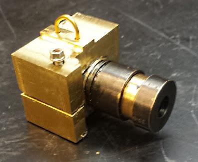 brass camera with screw shutter button