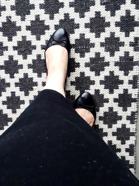 viikkokatsaus, mustat ballerinat, Ellos Shoes
