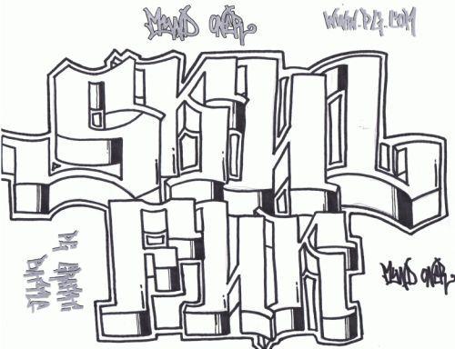 best graffiti 2011: 12 Graffiti Drawings in Paper (example)