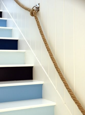 Nautical Rope Stair Railing and Rope Bannister Ideas for the Home  Coastal Decor Ideas and