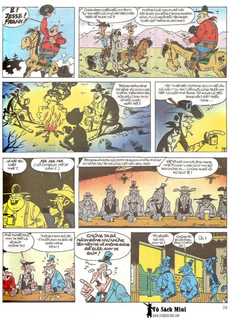 Lucky Luke tap 16 - jesse james hiep si rung xanh trang 41
