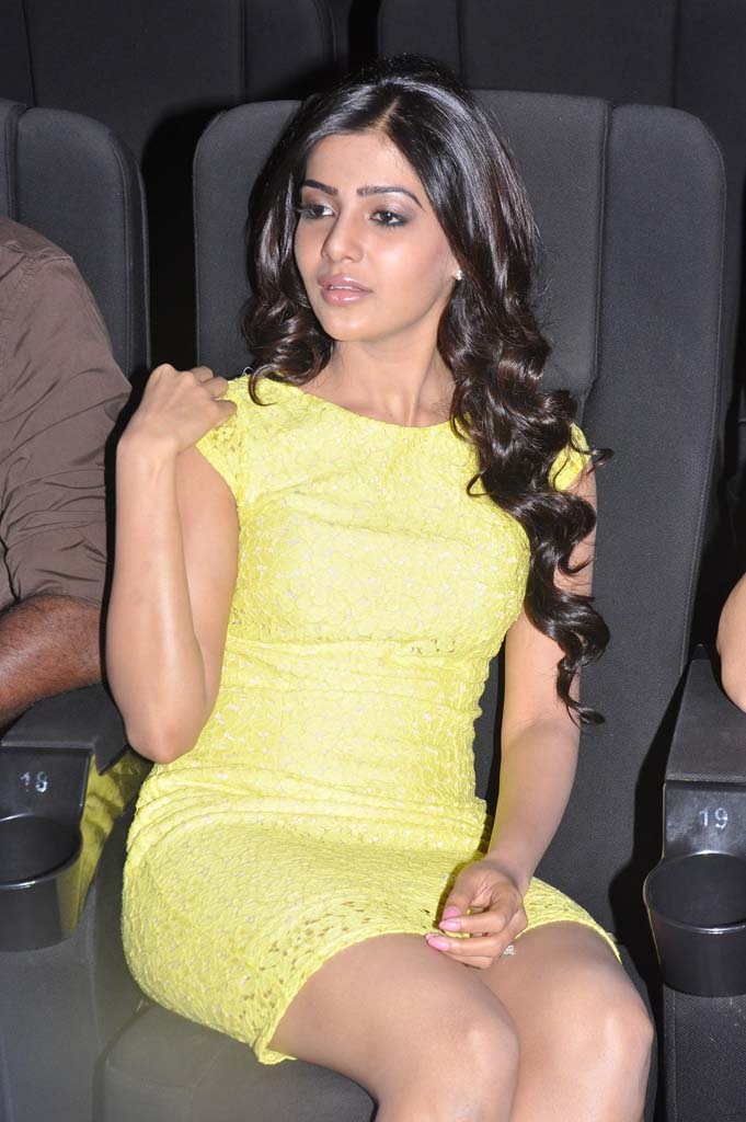 Samantha Sad Photos In Yellow Dress