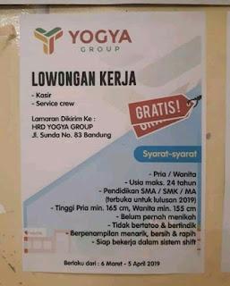 Lowongan kerja yogya group bandung april 2019