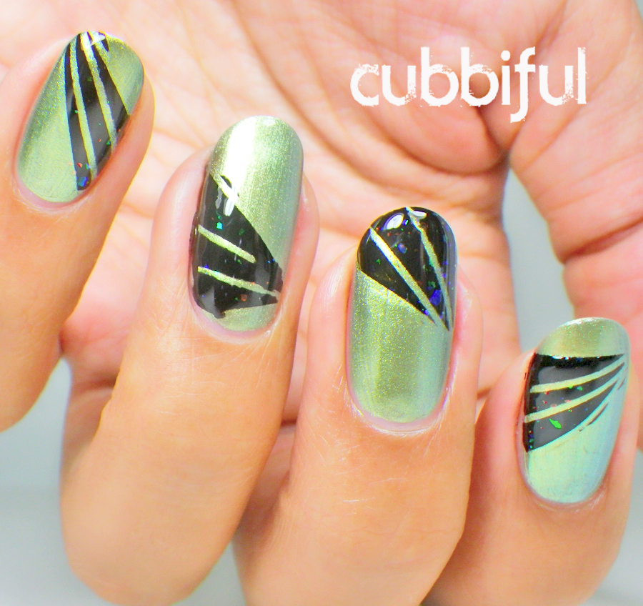 nails inspired by Gaultier Spring/Summer 2010 collection