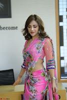 Angela Krislinzki Rogue Movie Fame Telugu Actress in Saree Backless Choli 109.JPG