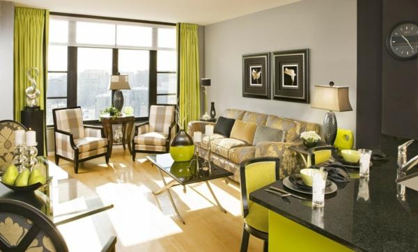 Sala De Estar Verde ~ Salas modernas color verde y gris  Salas con estilo