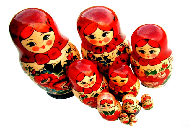 russian doll postcrossing card