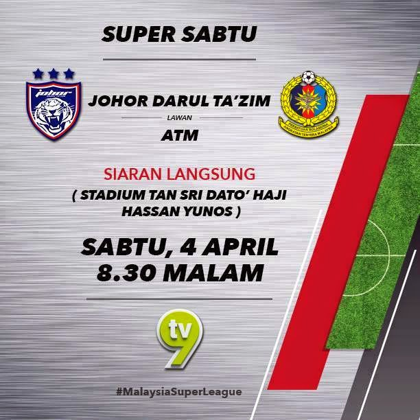 Live streaming JDT Vs ATM 4 April 2015
