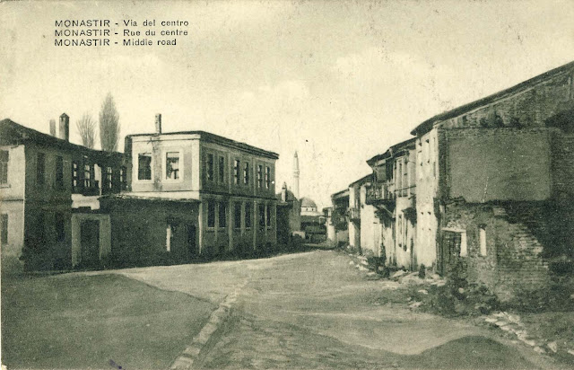 Street in the center of Bitola after the bombing.