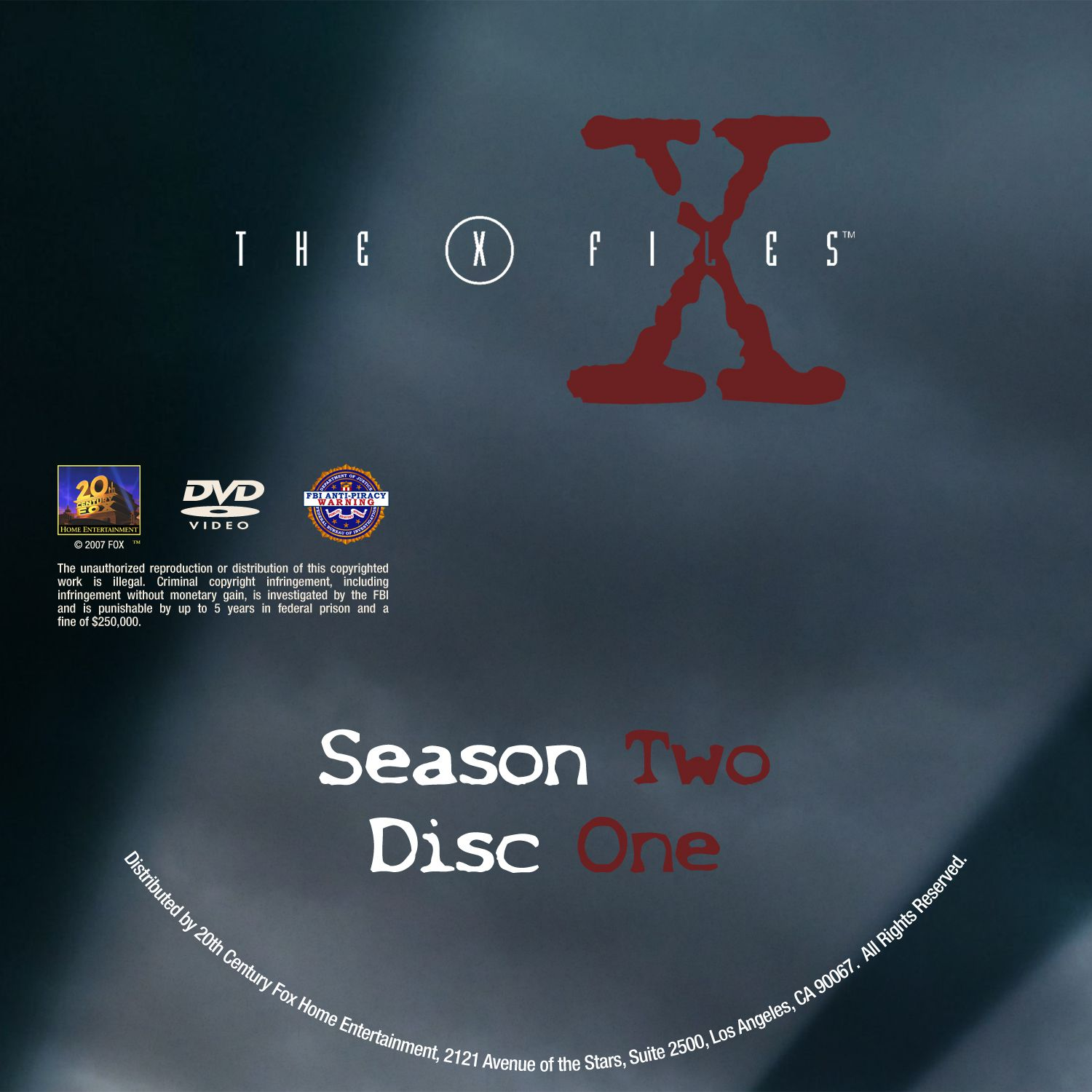 The X Files Season 2 DVD Label Disc 1-7
