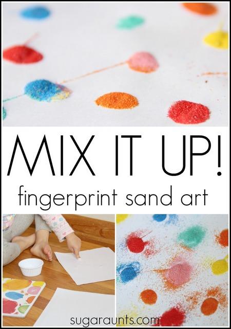 Sand Art Cake Mix : Mix It Up Fingerprint Candle Craft The OT Toolbox