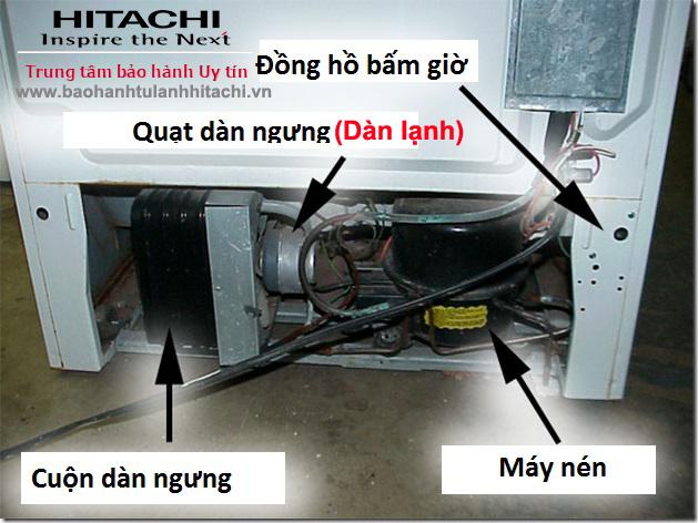 Sửa tủ lạnh Hitachi lỗi F012 (Lỗi mô tơ quạt dàn lạnh)