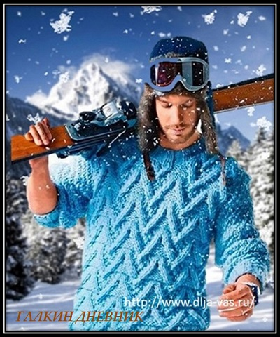 vyazanie dlya mujchin pulover s relefnim uzorom spicami s opisaniem