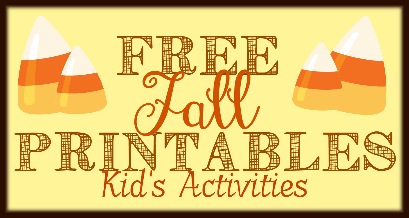 Free Fall Printables Part 1: Kid's Activities